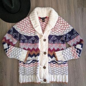 MarcByMarcJacobs Cream Wool Knit Cardigan XS